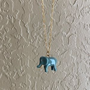 J. Crew Elephant Charm Long Necklace